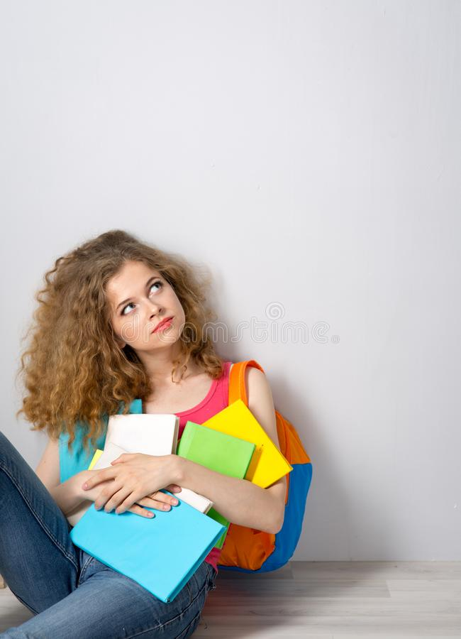 Young beautiful female student royalty free stock photo