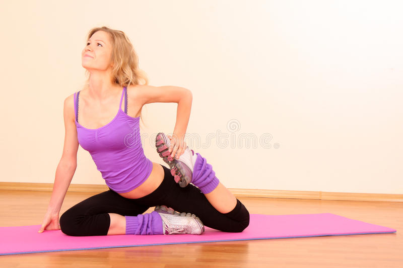 Young Beautiful Fitness Girl Stock Images