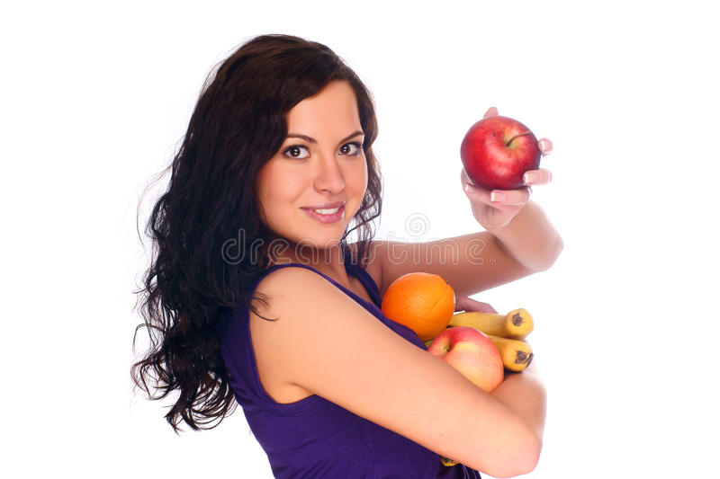 Download Young beautiful girl stock image. Image of apple, healthy - 10123369
