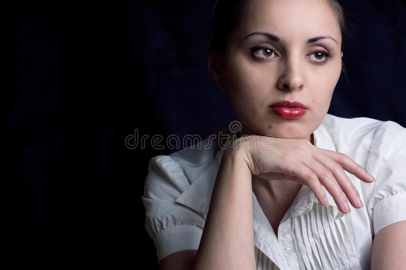 The young beautiful girl royalty free stock photos