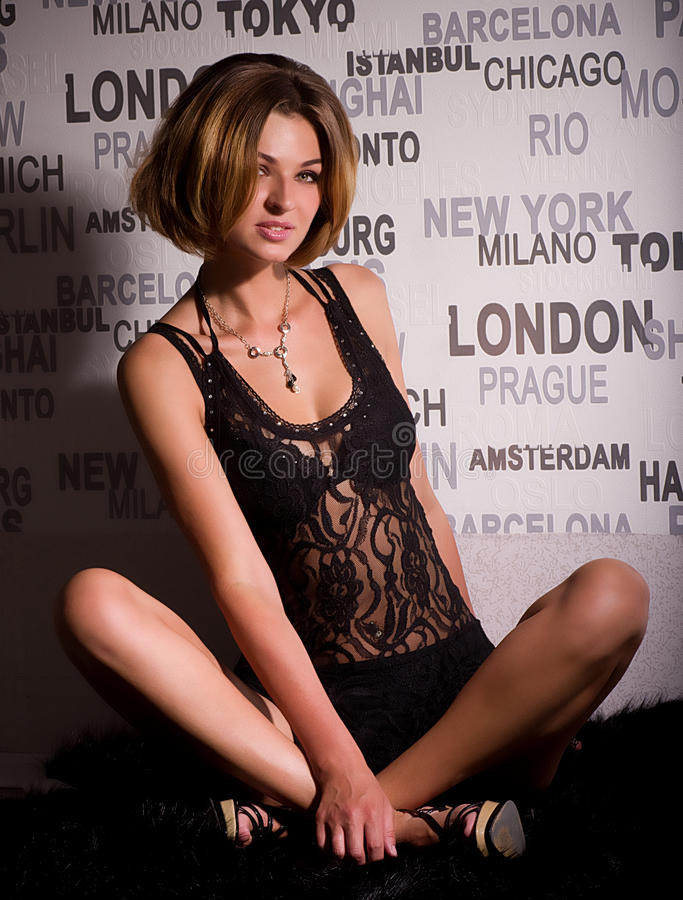 Young beautiful girl stock photos