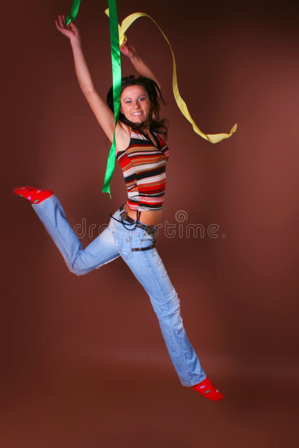 Download The Young Beautiful Girl During Active Leisure Stock Image - Image: 8498109