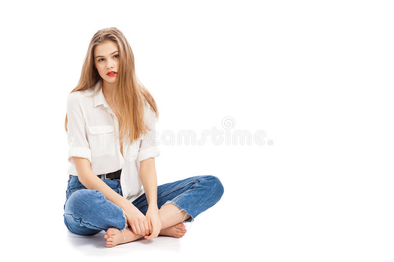 Young beautiful girl stock images