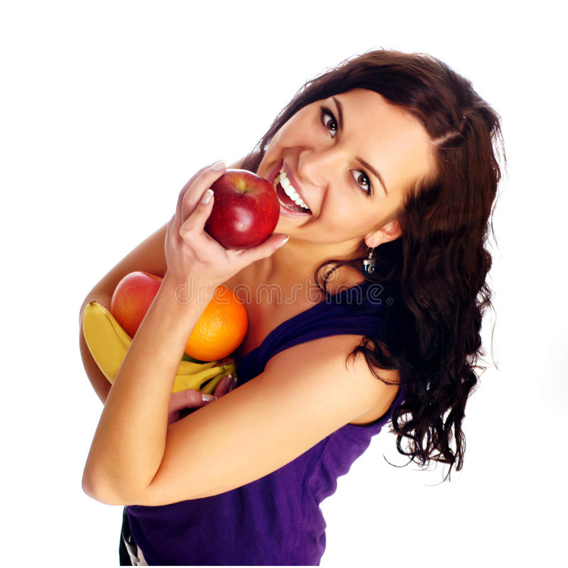 Young Beautiful Girl With Fruit Royalty Free Stock Image