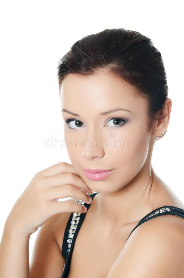 Young beautiful girl with make-up royalty free stock photo