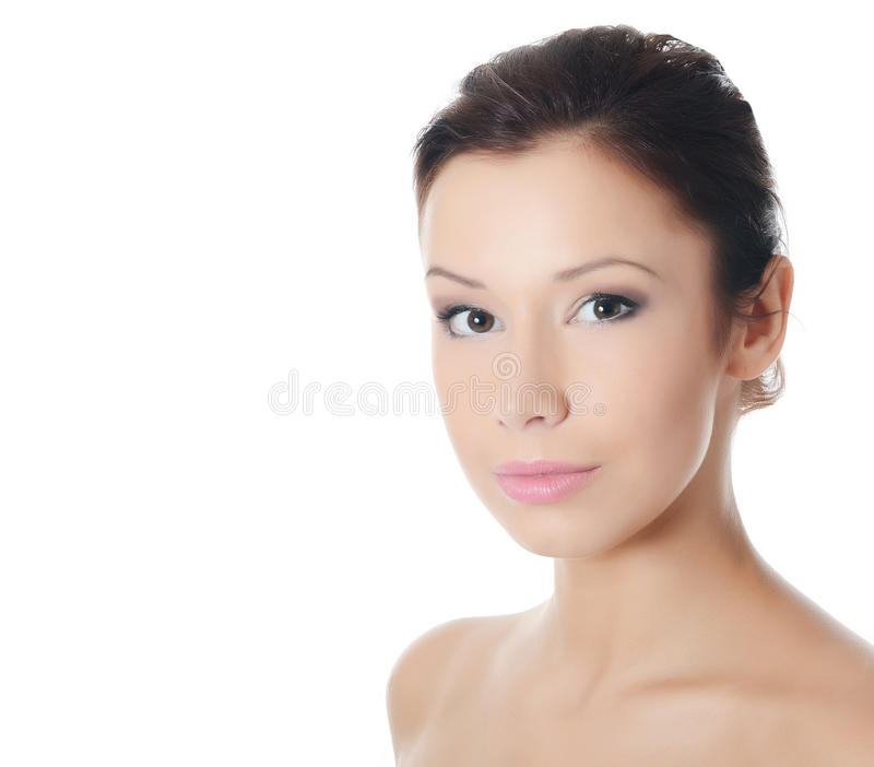 Young beautiful girl with make-up stock photos