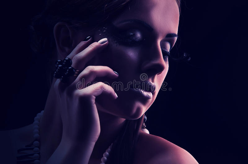 Download Young Beautiful Girl Naked With A Coral Necklace Stock Photo - Image: 30629456