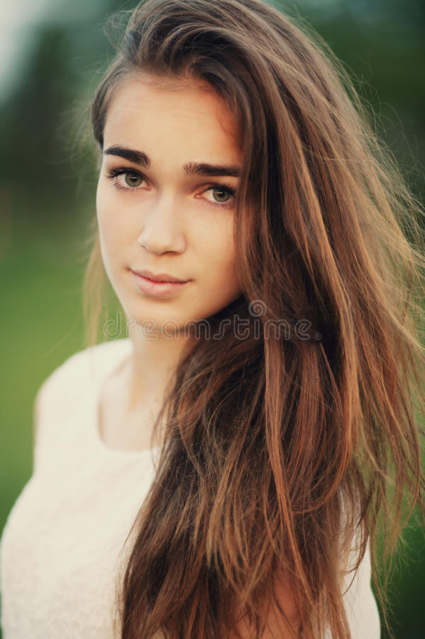 Young Beautiful Girl Portrait Royalty Free Stock Photos