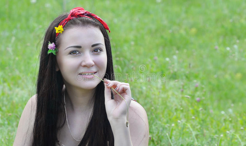 Young, beautiful girl royalty free stock photography