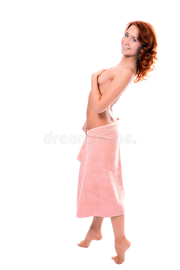 Download Young Beautiful Girl In Towel After Shower Stock Photo - Image: 1720500