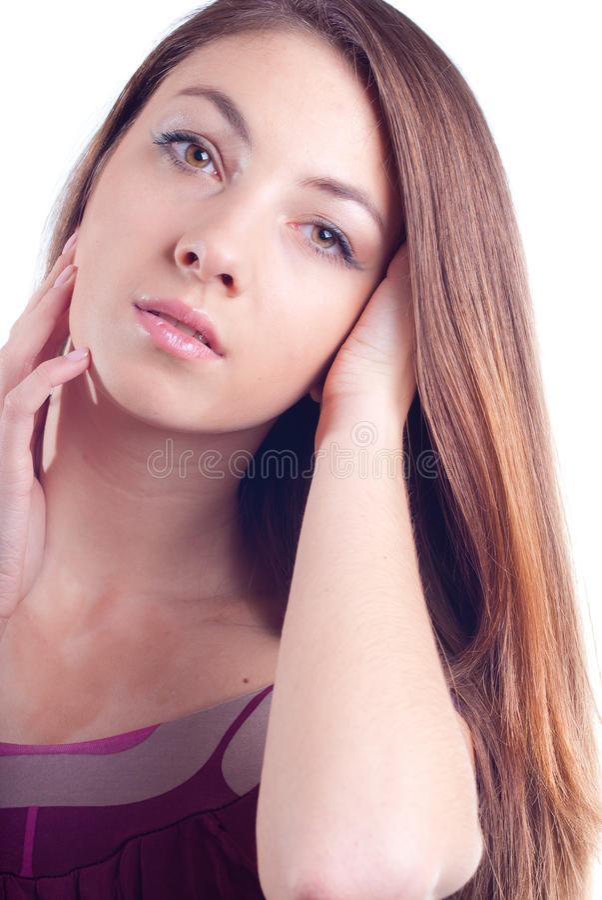 Young Beautiful Glamour Woman Headshot Portrait Royalty Free Stock Photography