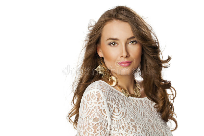 Young beautiful haired woman stock photography