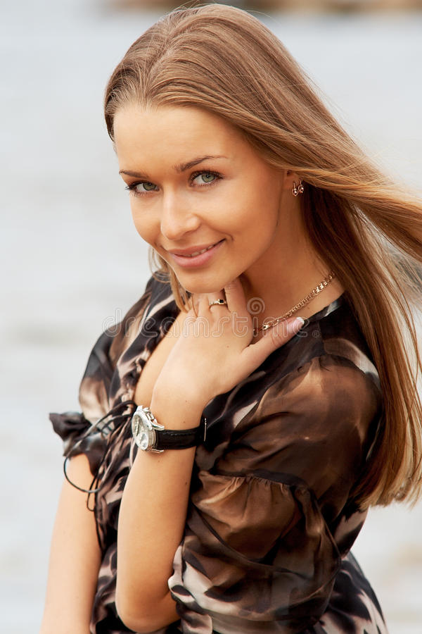 Young beautiful lady royalty free stock photography