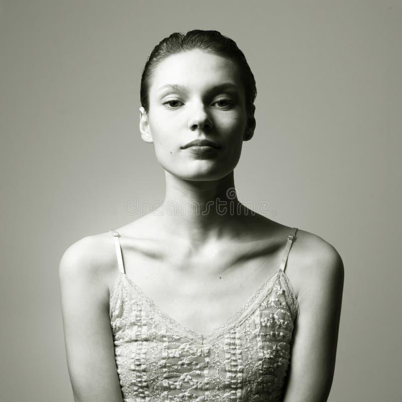 Young beautiful lady. Portrait of young beautiful wooman. Studio photo stock photo