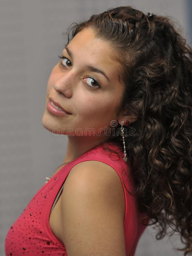 Young and beautiful latin girl stock photo