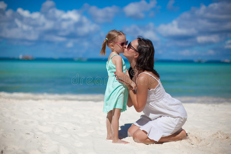 Download Young Beautiful Mother And Her Adorable Little Stock Image - Image of island, love: 32578307