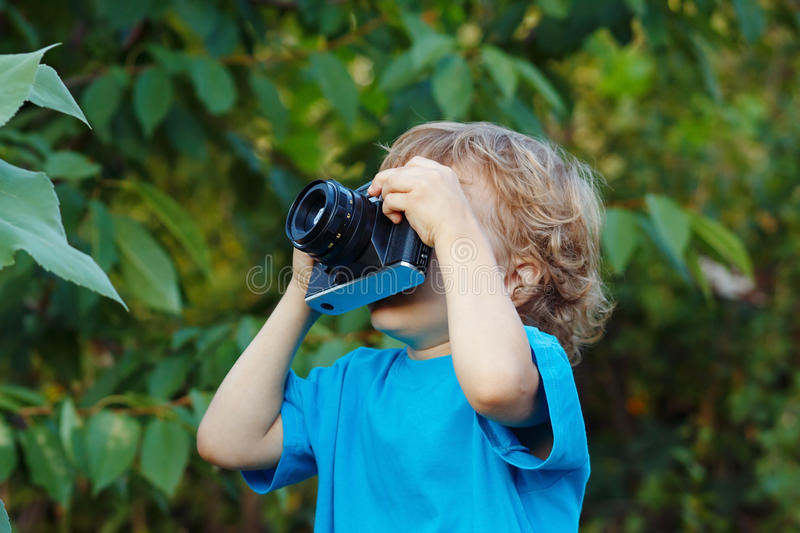 Download Young Beautiful Photographer With A Camera Stock Image - Image: 26005471