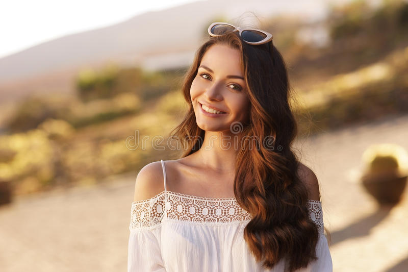 Young beautiful pretty woman royalty free stock photos