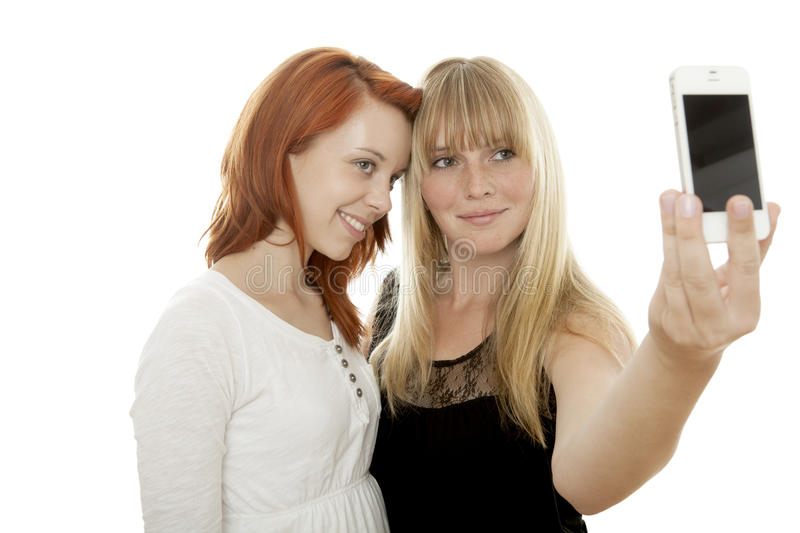 Download Young Beautiful Red And Blond Haired Girls Stock Photo - Image: 26428340