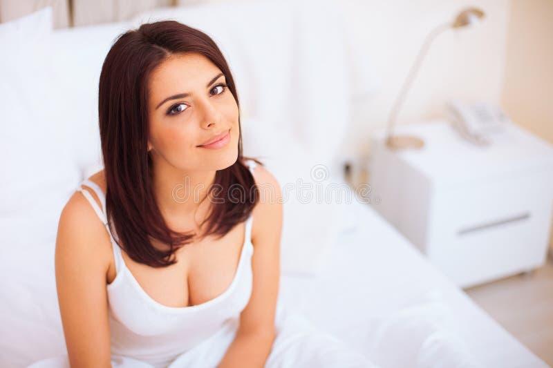 Young beautiful serene woman royalty free stock image