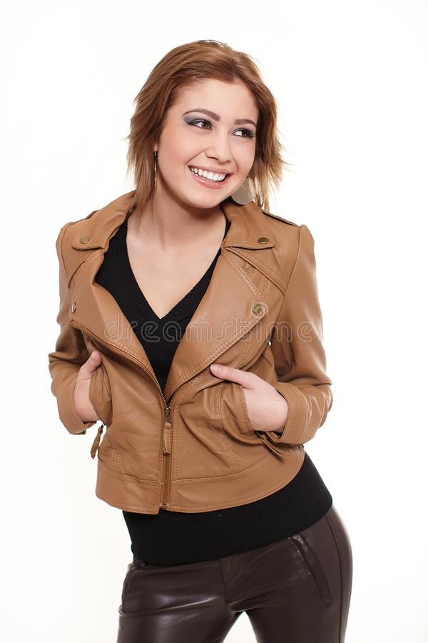 Download Young Beautiful Smiling Stylish Blond Woman Stock Photo - Image: 23412588