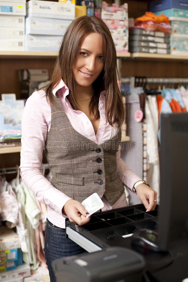 Download Young Beautiful Shop Assistant Stock Photo - Image: 11546642