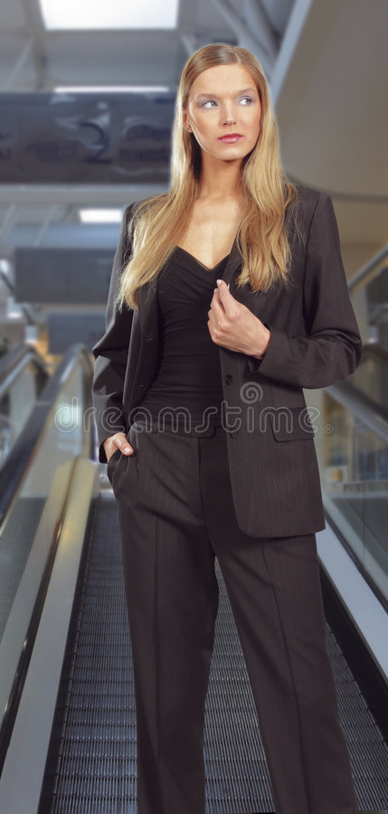 Young Beautiful Smiling Business Woman Royalty Free Stock Photo