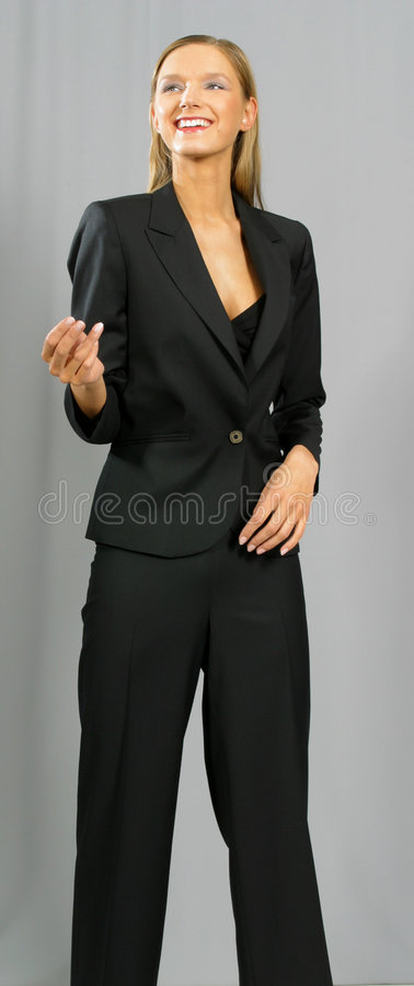 Young beautiful smiling business woman stock image