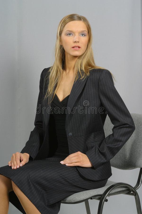 Young Beautiful Smiling Business Woman Stock Photo