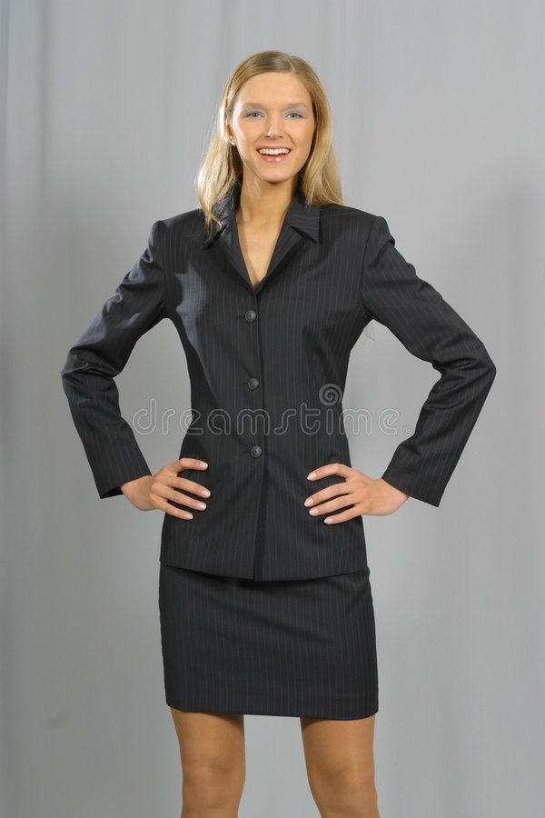 Young beautiful smiling business woman royalty free stock images
