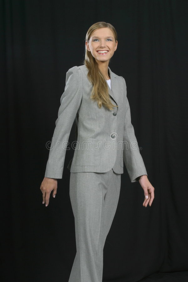 Download Young Beautiful Smiling Business Woman Stock Image - Image: 1463601
