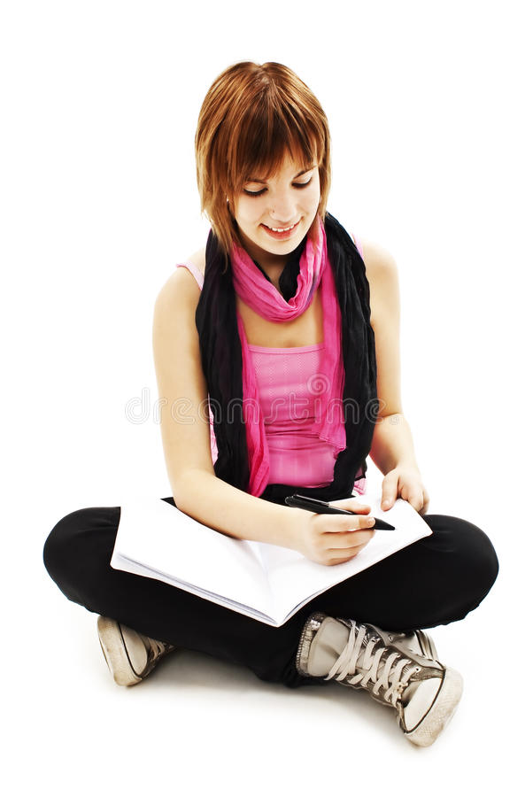 Download Young And Beautiful Student Girl Stock Photo - Image: 22945406