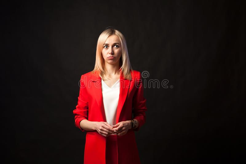 Young beautiful white blond girl royalty free stock photos