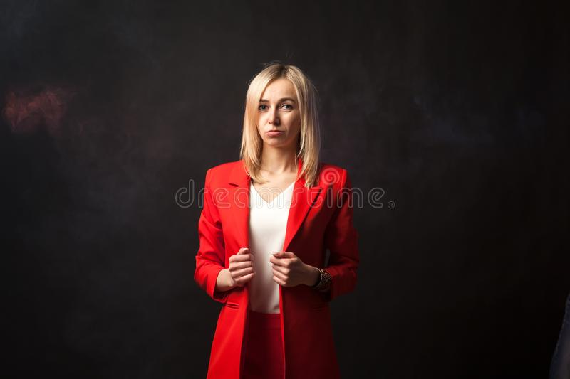 Young beautiful white blond girl royalty free stock images