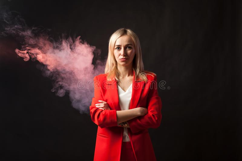 Young beautiful white blond girl stock photography