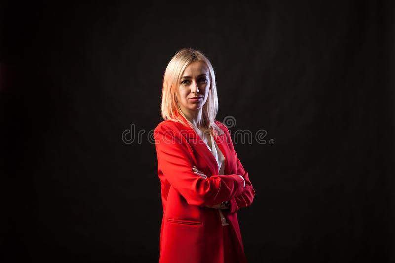 Young beautiful white blond girl stock photos