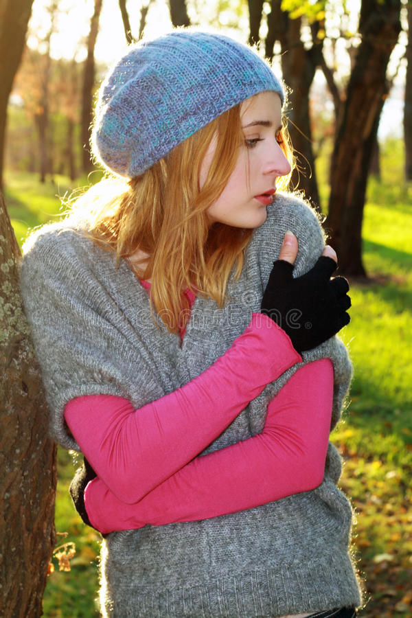 Download Young Beautiful Woman In An Autumn Park Stock Photos - Image: 11434183