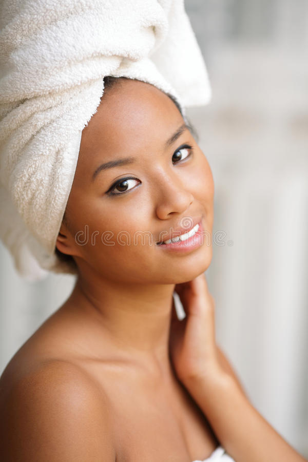 Young Beautiful Woman After Bath Stock Photography