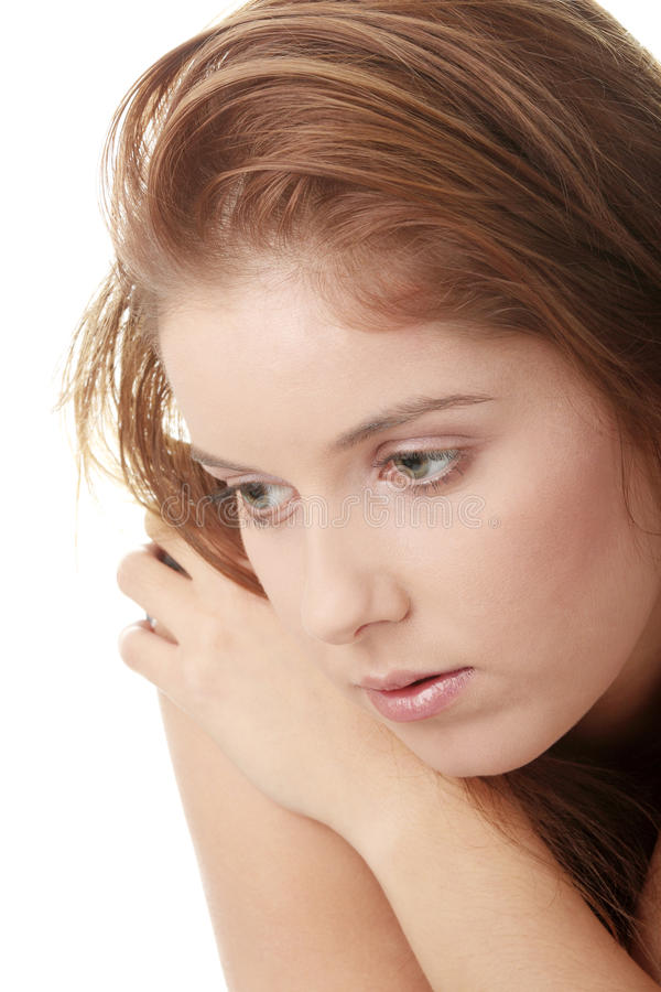 Download Young Beautiful Woman With Depression Stock Photo - Image: 12968894