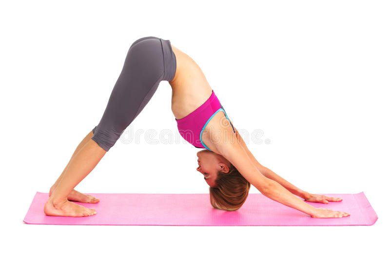 Young beautiful woman doing yoga. royalty free stock photography