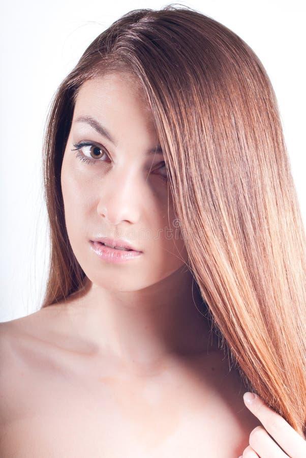 Young Beautiful Woman Headshot isolated
