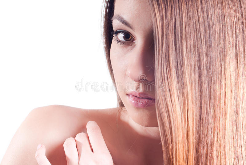 Download Young Beautiful Woman Headshot Isolated Royalty Free Stock Photos - Image: 23264858