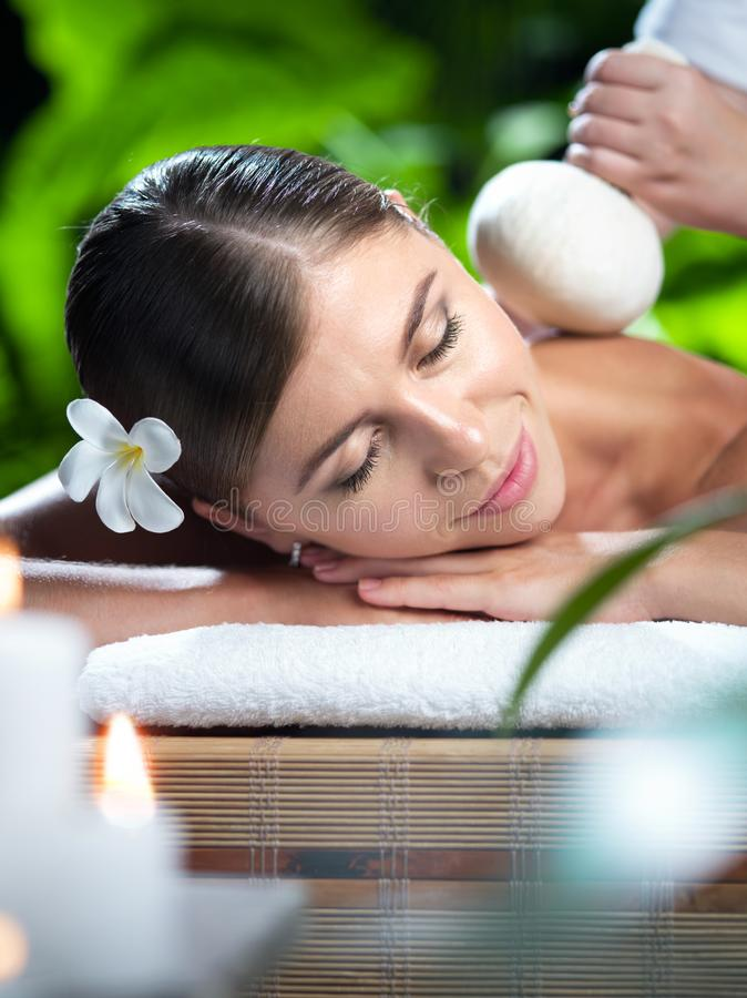 Free Young Beautiful Woman In Spa Environment. Stock Photos - 138839893