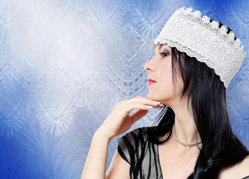 Download Young Beautiful Woman Lace Series Stock Photo - Image: 28231444