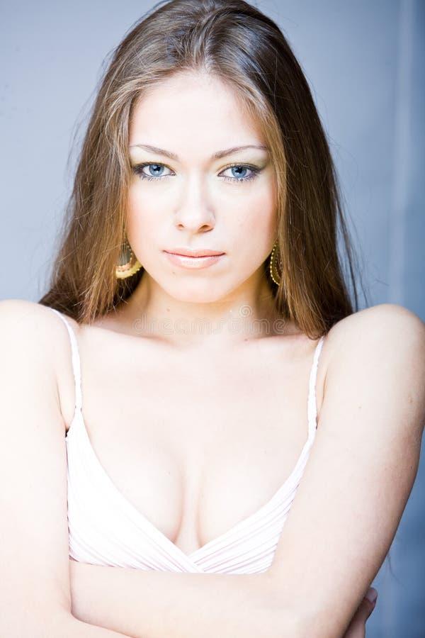 Young beautiful woman with long hai