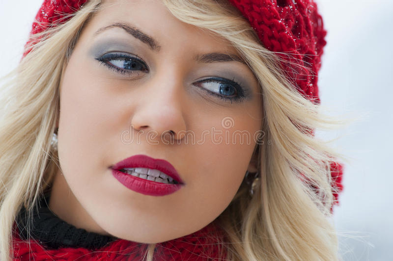 Young Beautiful Woman Outdoor Stock Image