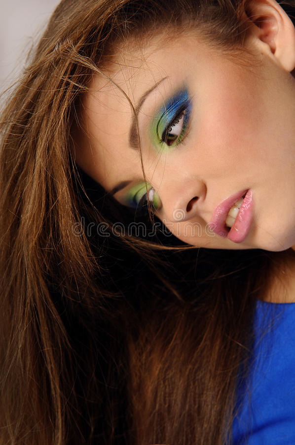 Download Young Beautiful Woman With Perfect Natural Makeup Stock Image - Image: 24794227