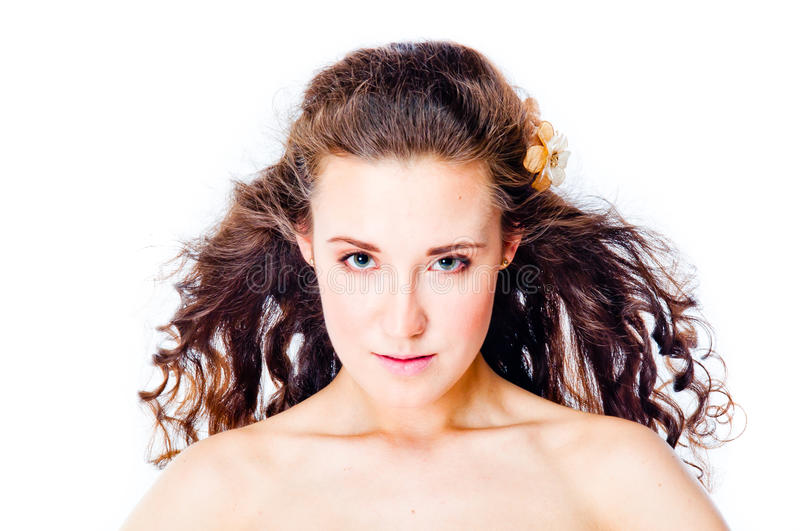 Young and beautiful woman royalty free stock photography