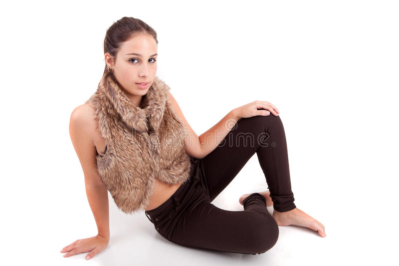 Young and beautiful woman posing stock images