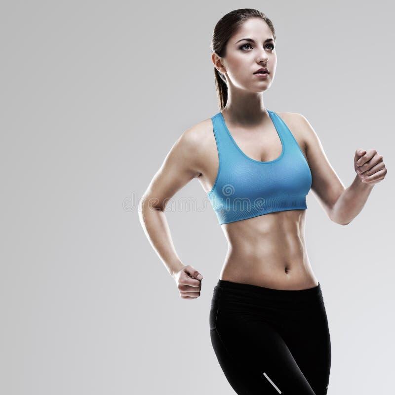 Download Young beautiful woman runs stock image. Image of beautiful - 29624887